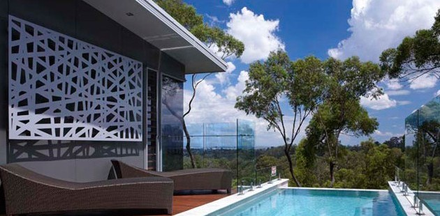 ambient exterior piscina panou decorativ