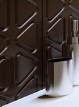 mdf baie perete decorativ fronturi vopsite electrostatic