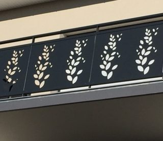balustrada balcon decorativa panouri decupate laser