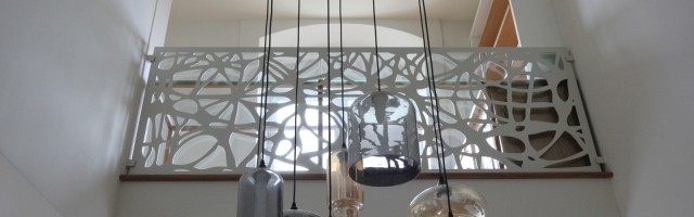 balustrada metalica de interior cu decupaje decorative