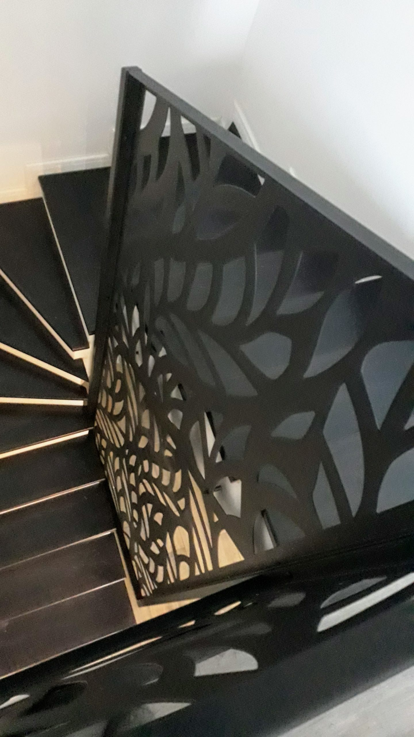 balustrada scara interioara trepte mdf negre