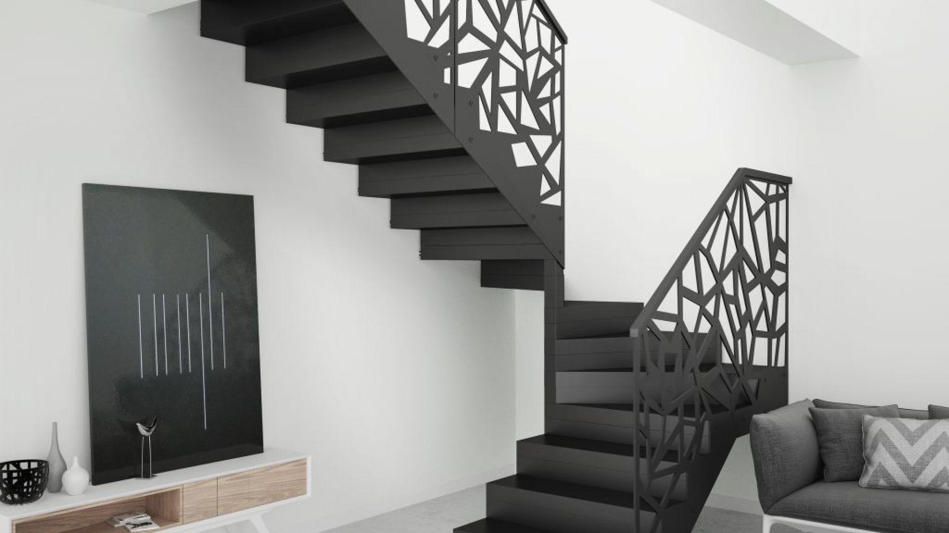 balustrada metalica scara interioara moderna