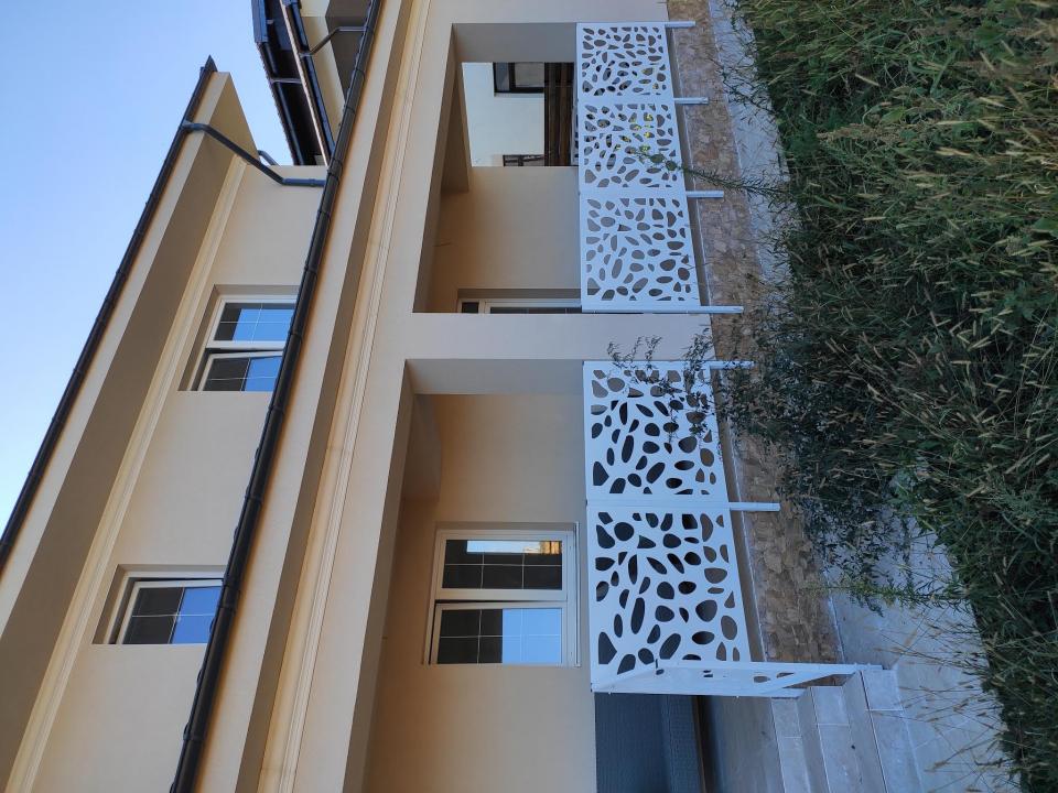 Balustrada terasa metal traforat laser