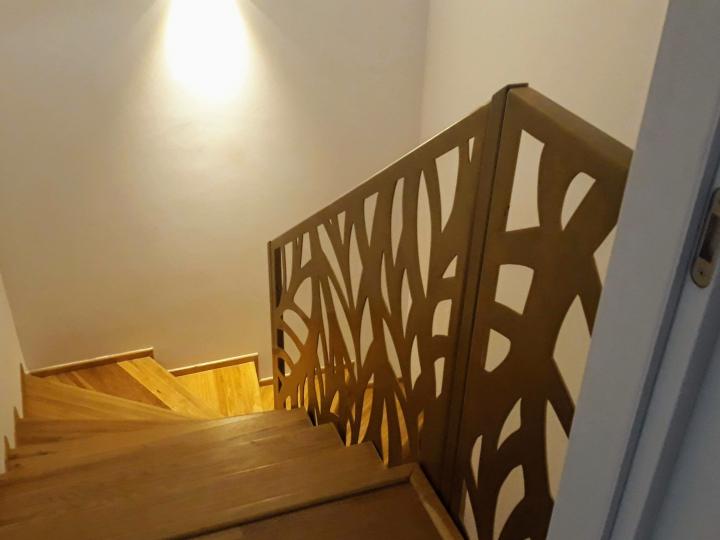 balustrada scara interioara trepte lemn