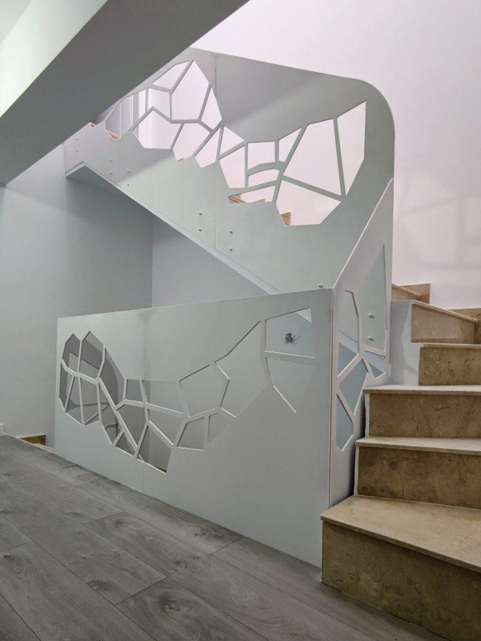 balustrade traforate decupate cu laser din otel sau corian