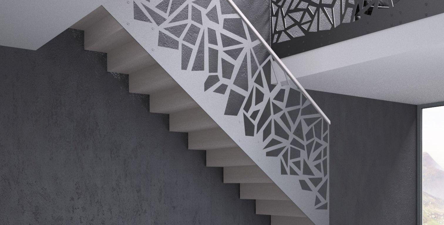 balustrade protectie scara interioara parapet etaj