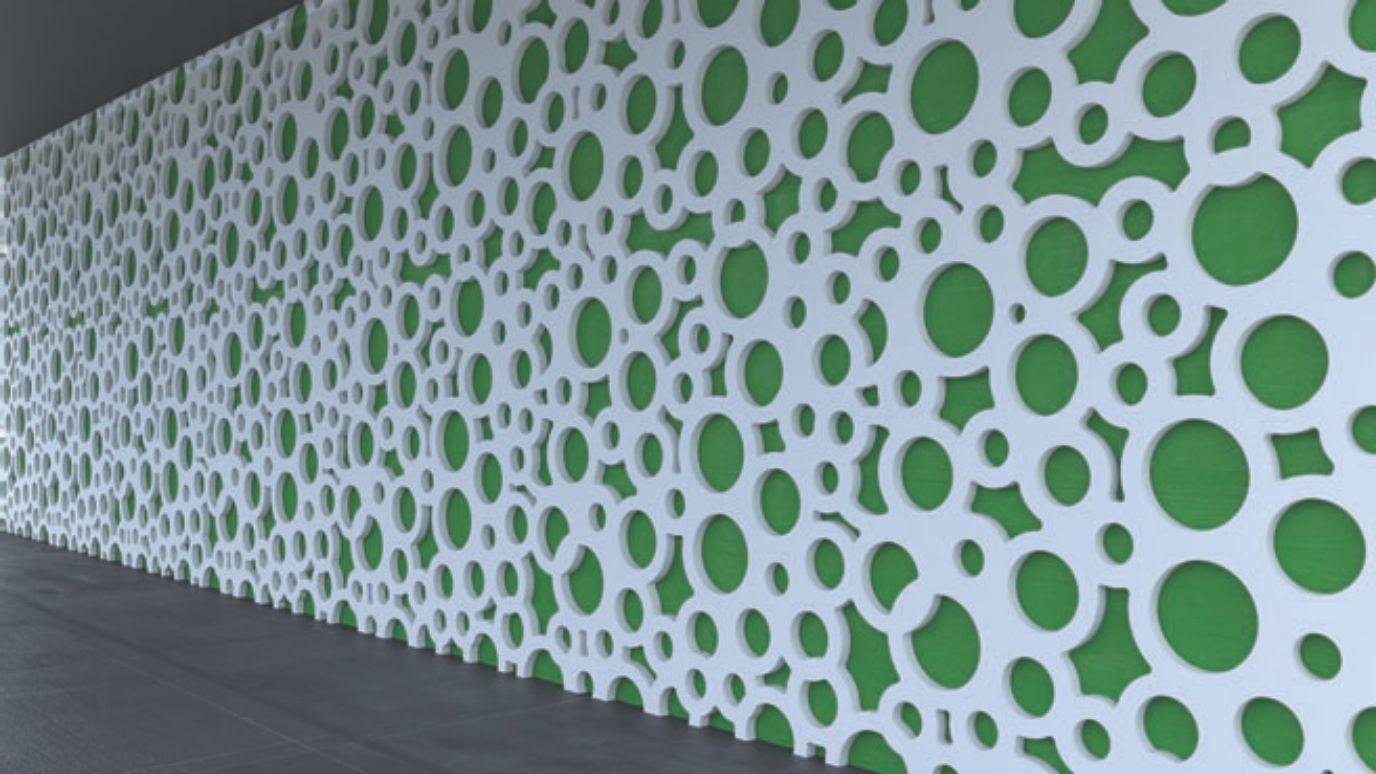perete placat ornamental cu panou design 3d mdf vopsit alb