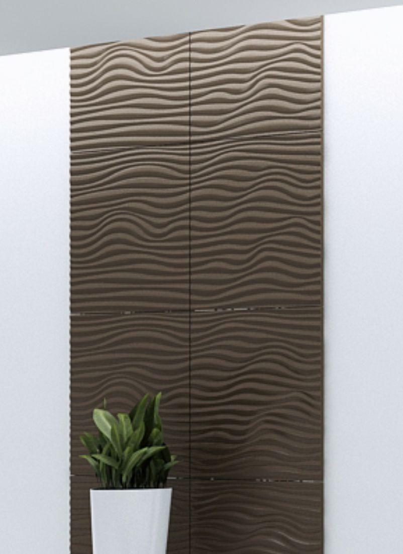 placare perete model valuri gravate in mdf cu efect 3d