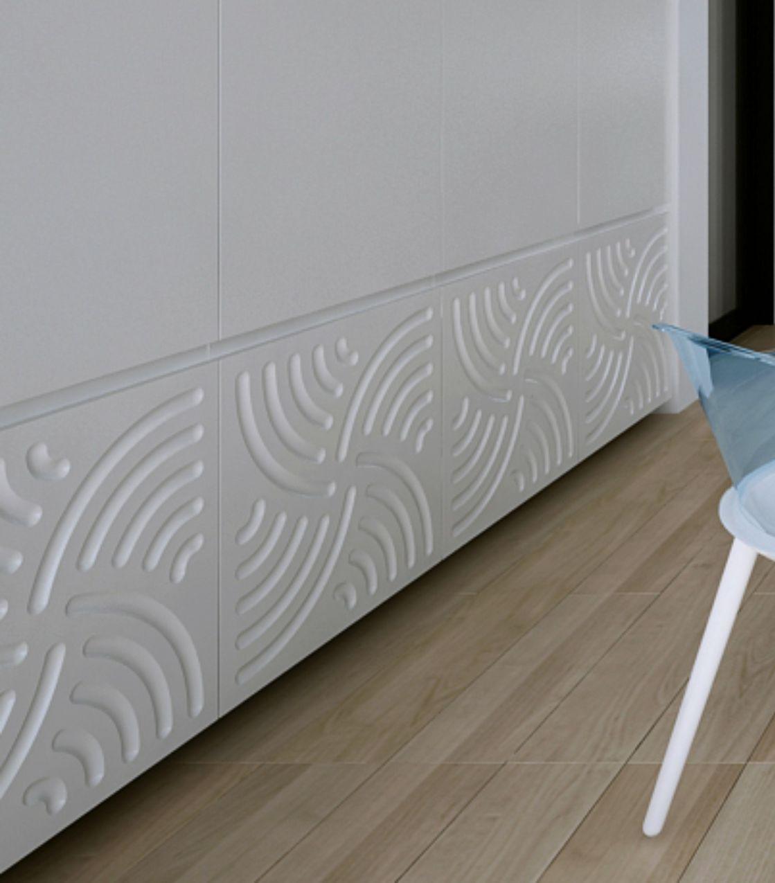 fronturi mdf frezate 3d vopsite alb , dulap incastrat perete
