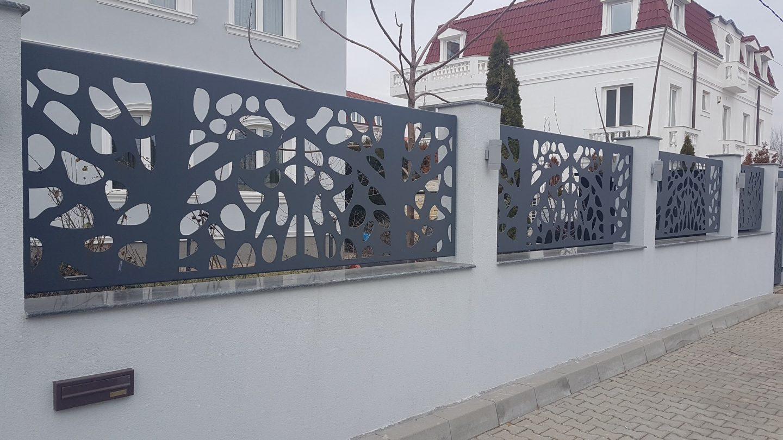 Panouri metalice gard modern