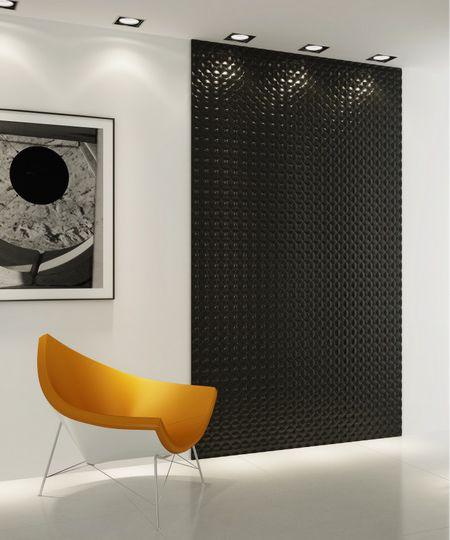camera rezidentiala design contemporan perete decorat cu panou 3d vopsit negru