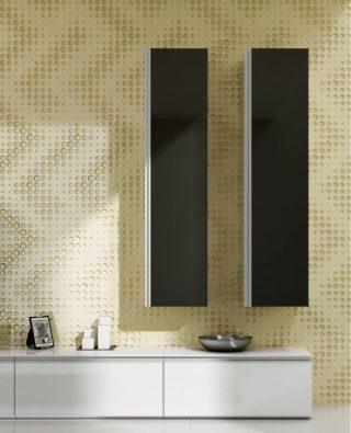 living perete decorativ 3d fronturi mobilier mdf  vopsit negru