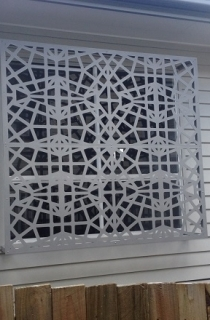 grilaj metalic fereastra model decupat