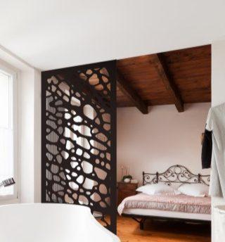 paravan decorativ interior metalic vopsit
