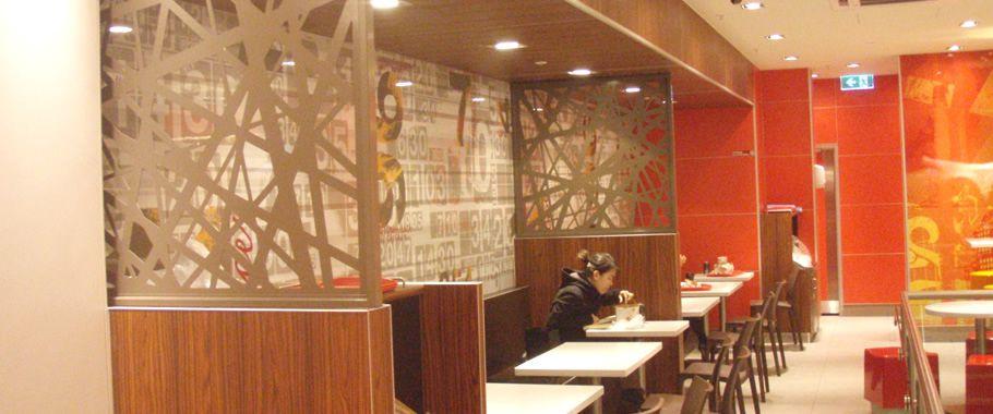 paravane deapartitoare traforate la un restaurant