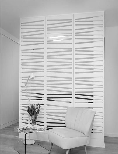 perete decorativ 3d separator camera mdf vopsit