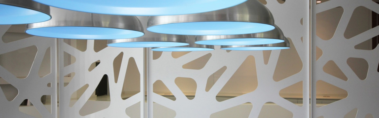 perete despartitor decorativ tabla vopsita