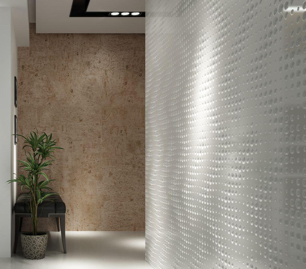 efect 3d volumetric la un perete placat mdf 3d
