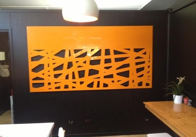perete panou decorativ metalic vopsit