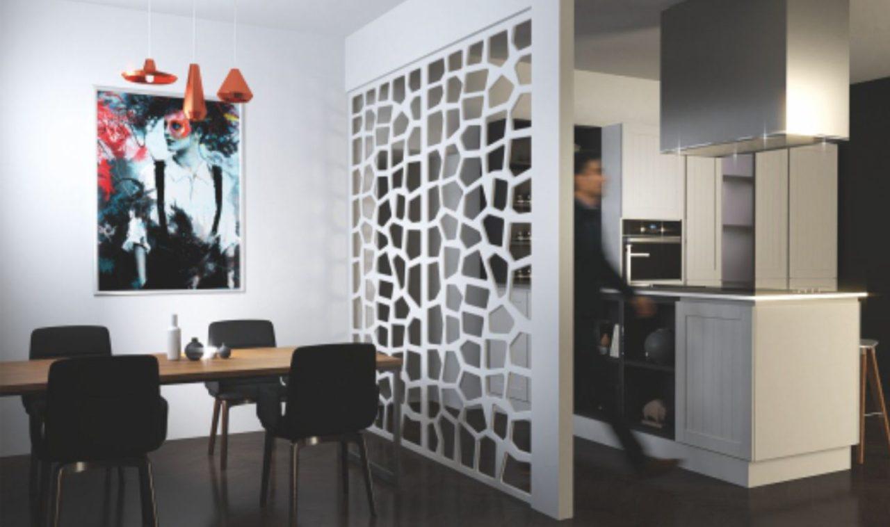 compartimentare camera cu perete separator decorativ