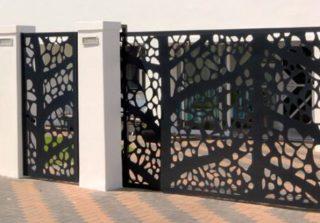 Constructie gard rezidential din panouri decorative traforate la complex pipera