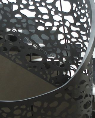balustrada curbata metalica pentru scara interioara eliptica