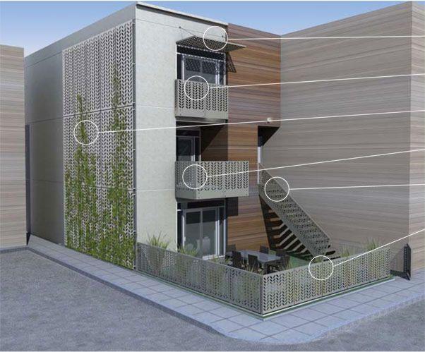 panou decorativ, poarta, gard, balustrada, paravan la o casa cu etaj
